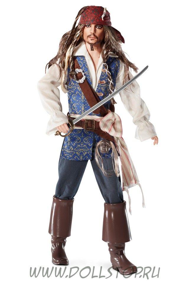Коллекционная кукла Капитан Джек Воробей - Captain Jack Sparrow Doll
