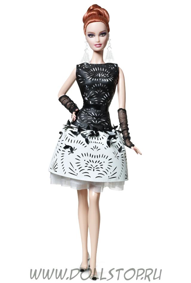 Коллекционная кукла Барби Кожаное платье  - Laser-Leatherette Dress Barbie Doll