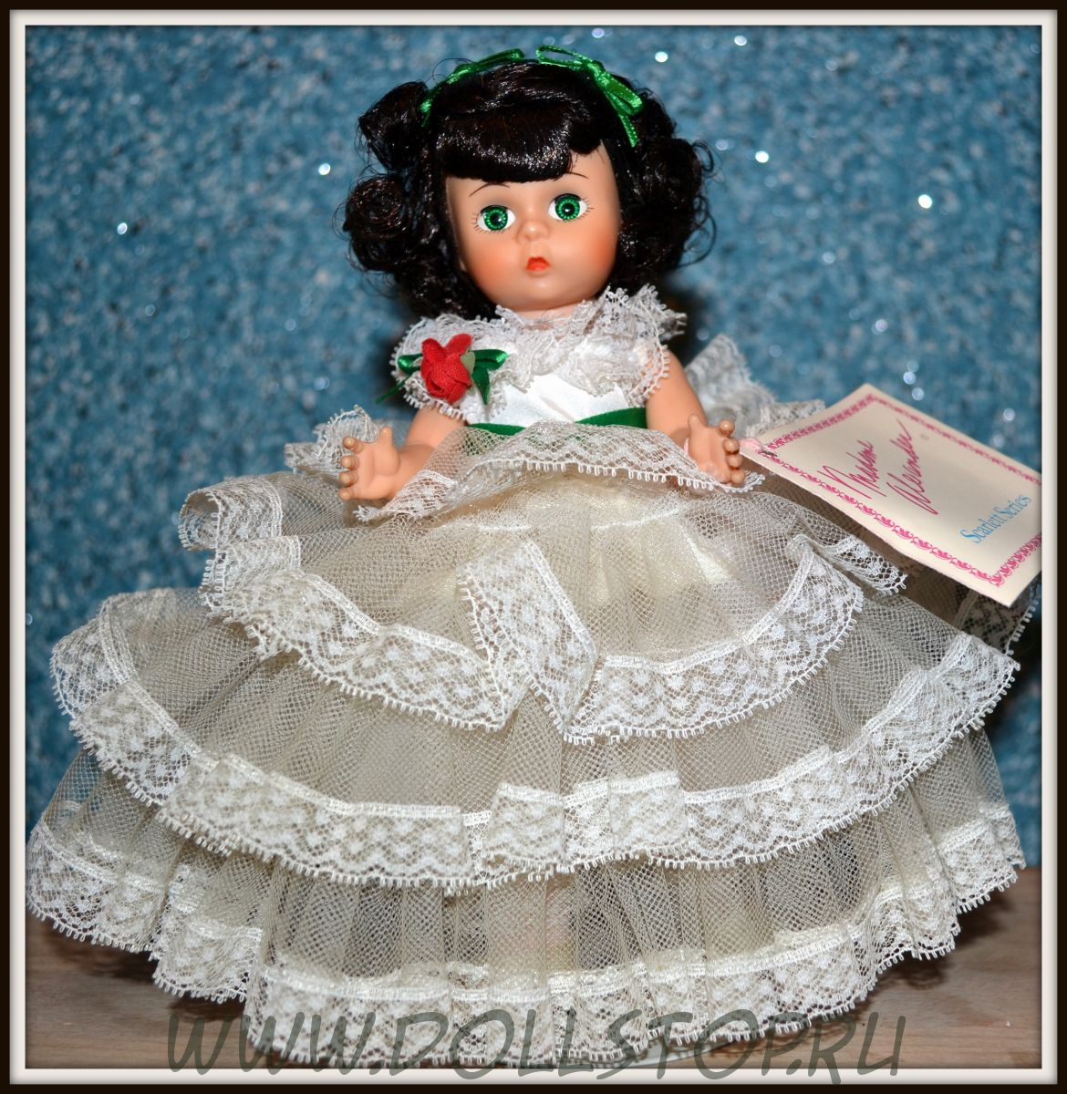 "Коллекционная кукла Скарлетт из ""Унесенных ветром"" от Мадам Александер - Madame Alexander Scarlett 631 Gone With the Wind 8"" Doll w/doll stand"
